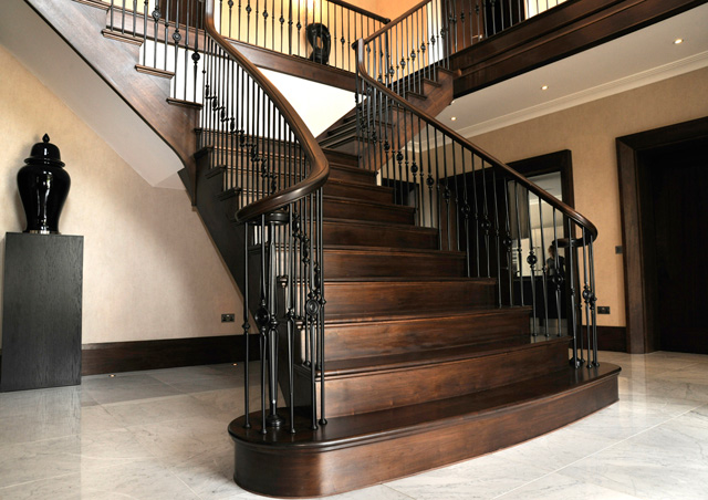 ... You May Notice The Fine American Black Walnut Flared Staircase In The  Finalistsu0027 Mansion... Made By Our Own Fair Hands!